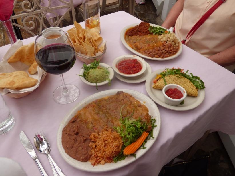 Lunch at Rancho de Chimayo.
