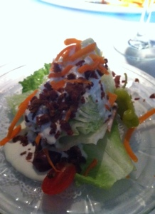 Wedge salad at The Bull Ring.