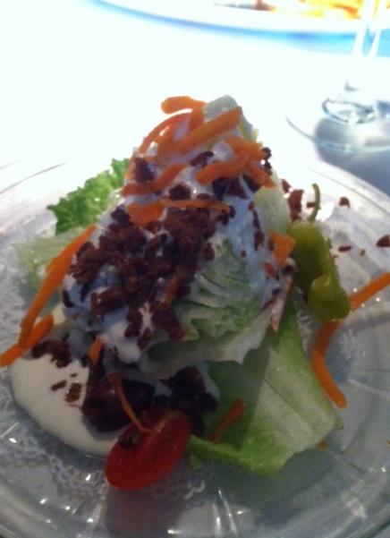 Wedge salad at The Bull Ring.