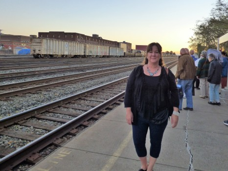 Jill, preparing to depart Huntington Station.