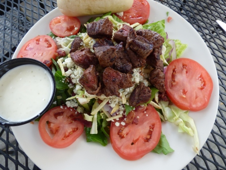 Steak salad at Marshall Cafe.